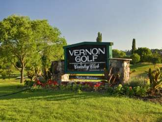vernon golf and country club vernon bc welcome sign